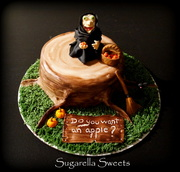 witch cake topper for halloween cake