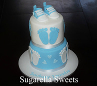 baby sower boy cake