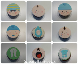 baby boy shower cupcakes