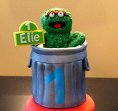 oscar the grouch cake topper