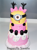 Minnion cake for girls