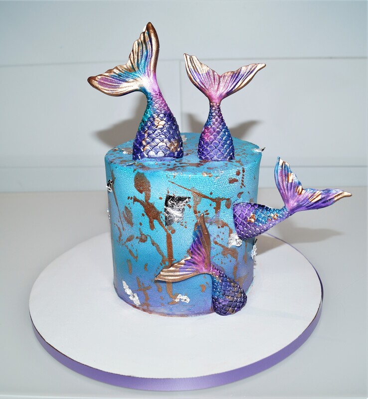 Buttercream mermaid cake
