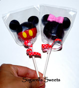 Minnie mouse and mickey mouse cake pop