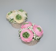 Buttercream ribbon roses