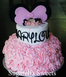 minnie mouse baby shower girl cake