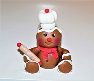 Fondant gingerbread man figurine
