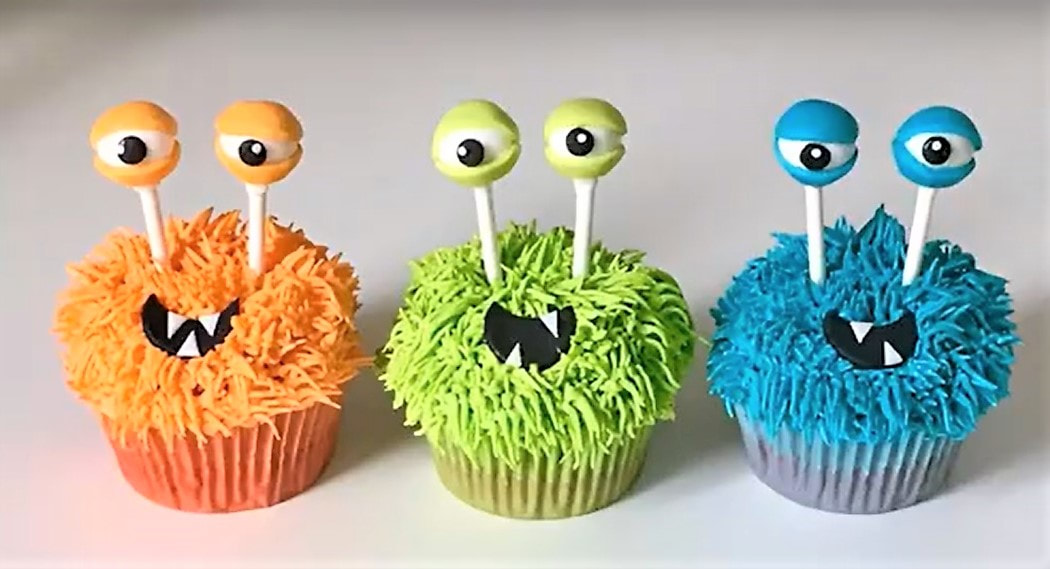 monsters cupcakes