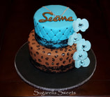 leopard cake with lace