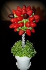 strawberry topiaire centerpiece